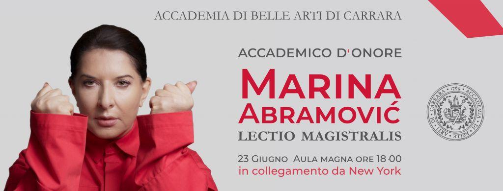 Marina Abramović Accademica d'Onore!
